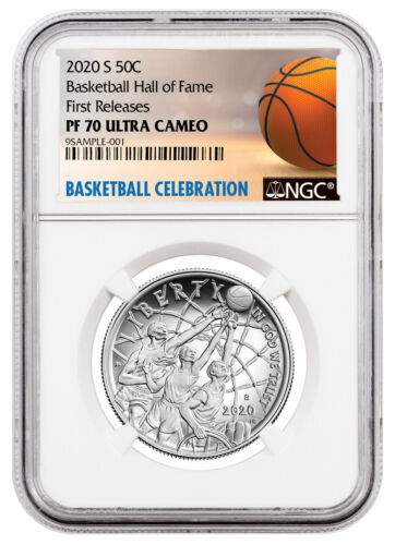 2020 S Basketball Hall of Fame Clad Half Dollar Proof Coin NGC PF70 FR Delay