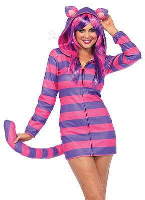 Cat Cheshire Cozy Adult Women's Costume Purple & Pink Fancy Dress Leg Avenue