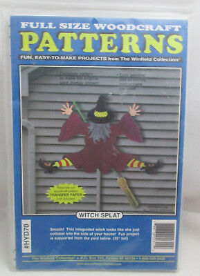 The Winfield Collection Witch Splat Halloween Yard Art Wood working Pattern - Winfield Halloween