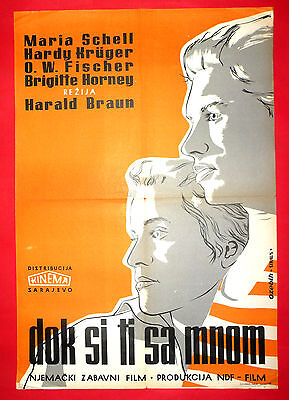 As Long As You Re Near Me 1953 Maria Schell O W Fischer H Kruger Yu Movie Poster