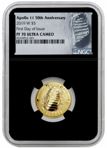2019 W Apollo 11 50th Anniversary $5 Gold Commem NGC PF70 FDI Black SKU56915