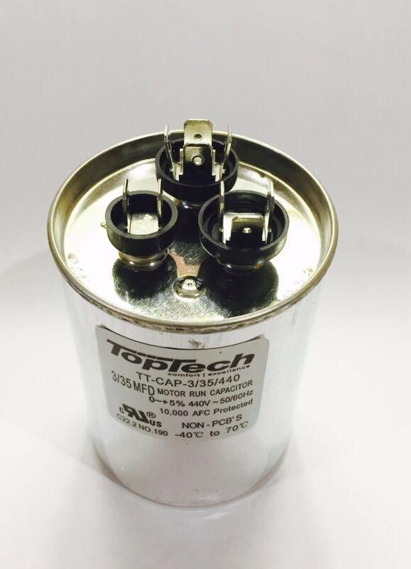 Dual Capacitor 3+35 3/35 35/3 MFD 370v 370 440v AC Motor HVAC 440 vac v uf