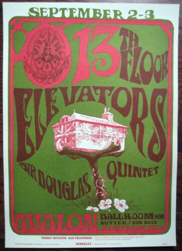 1966 MOUSE KELLEY 13TH FLOOR ELEVATORS ROKY ERICKSON FAMILY DOG POSTER FD 24