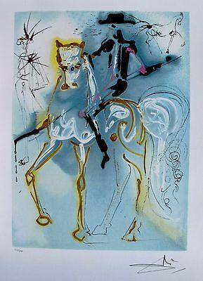 Salvador Dali PICADOR Signed Dalinean Horses Lithograph Art