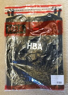HBA HOOD BY AIR Black Box Logo Double Zip Tee T Shirt NEW IN BAG