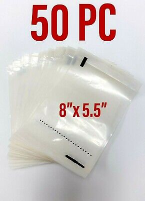 50 Self Adhesive 8 X 5.5 Clear Shipping Labels Packing Envelopes Pouches