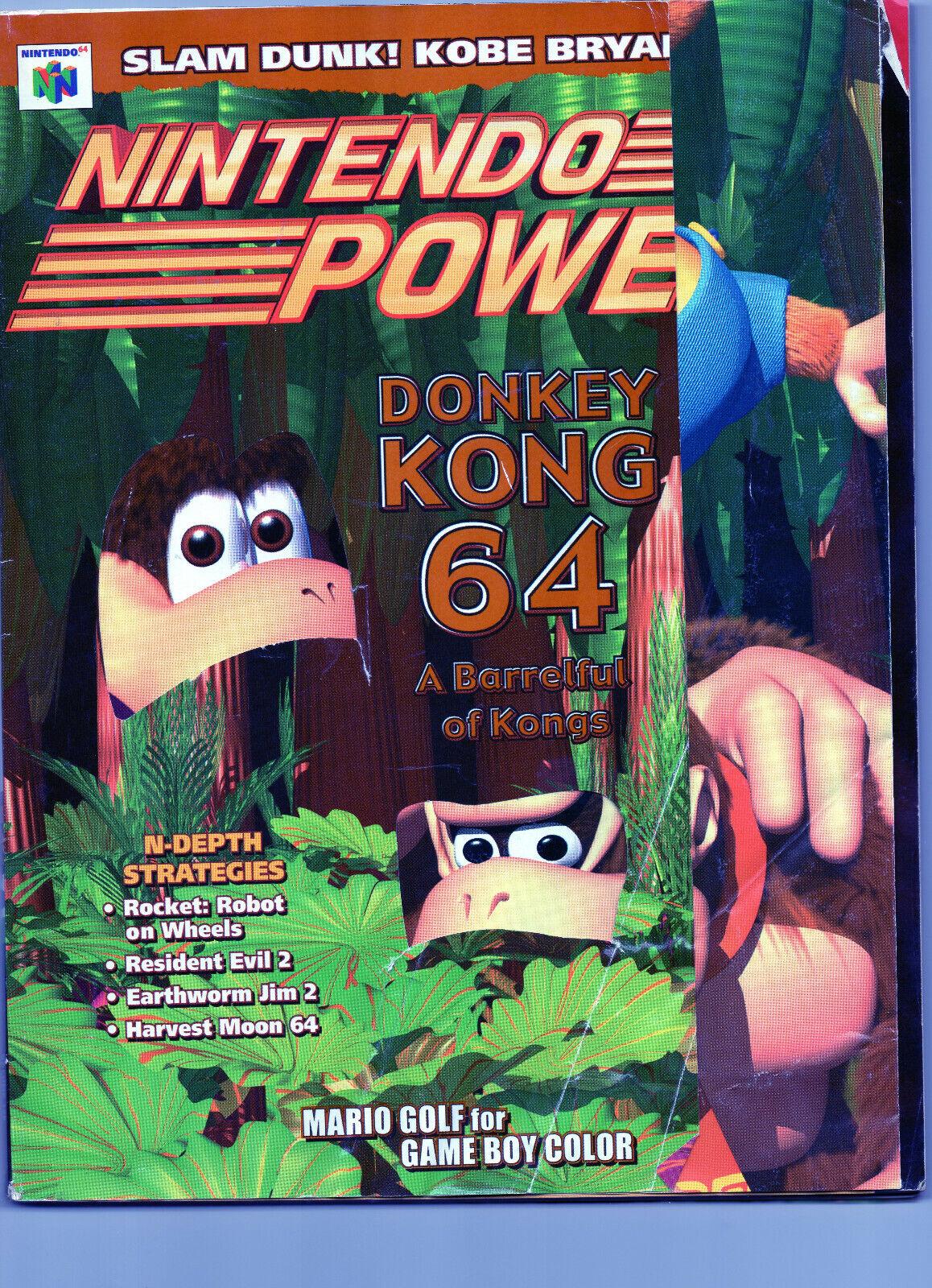 Nintendo Power Donkey Kong 64 Vol 126. Includes Kobe Bryant Poster Pokemon Comic - $12.00