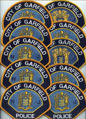 GARFIELD NEW JERSEY Patch Lot Trade Stock 10 Police Patches POLICE PATCH