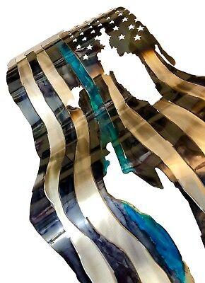 Sculptures Thin Blue Line Flag