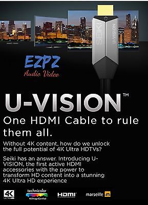 HDMI Seiki U-Vision Up Converting Cable 4K Ultra HD Video Processor UHD SU4KC1