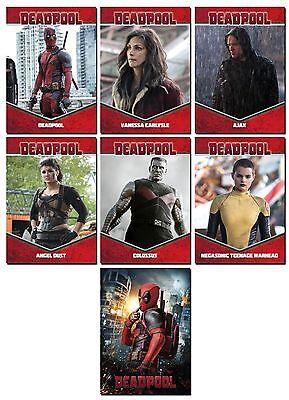 DEADPOOL Movie - 7 Card BIOS Promo Set - RYAN REYNOLDS