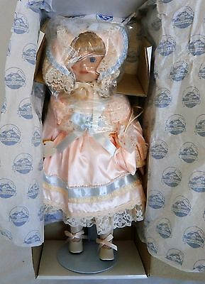 Stanhome 16 inch Porcelain Doll Katherine Limited Edition w/ Display Stand & Box