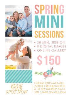Spring Mini Sessions ~ $150 Cameron Park Lake Macquarie Area Preview