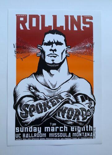 Emek 1998 Henry Rollins Spoken Word Original Rock Concert Poster