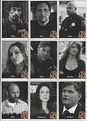 2015 Sons Of Anarchy Seasons 4   5 Character Bios Complete  9  Card Set