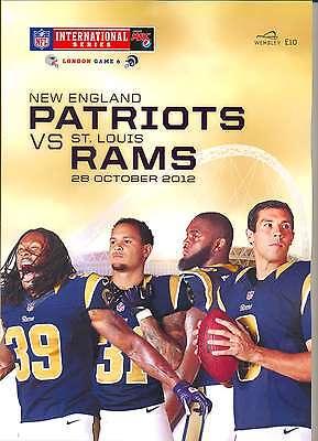 NEW ENGLAND PATRIOTS v ST LOUIS RAMS NFL WEMBLEY STADIUM 2012