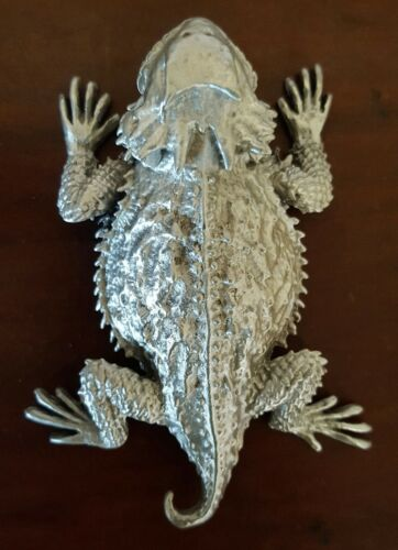 Horned Toad Horned Lizard Horny Toad 3 inch Solid Pewter Figurine &bumpersticker