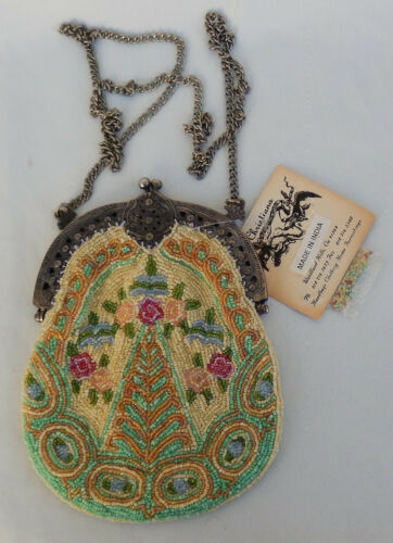 Vintage New with Tags Cristiana Beaded Evening Bag, Purse