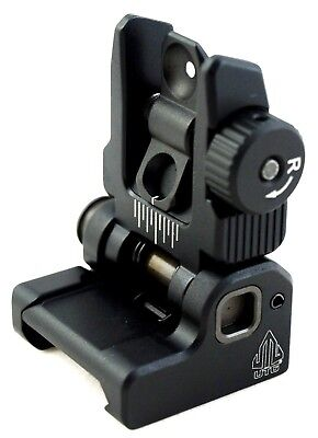 Spring Iron - UTG Flip-up BUIS Rear Sight Spring PopUp Folding Iron Sight Picatinny Rail Mount