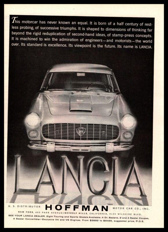 1960 Lancia Flaminia Berlina Hoffman Motor Car Co. Inc New York Vintage Print Ad