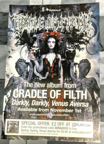 CRADLE OF FILTH / 2010 DARKLY, DARKLY, VENUS AVERSA LP MAGAZINE PRINT AD + DVD