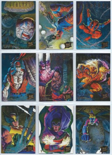1995 X-Men Fleer Ultra Marvel Hunters & Stalkers Rainbow Gold Silver You Pick