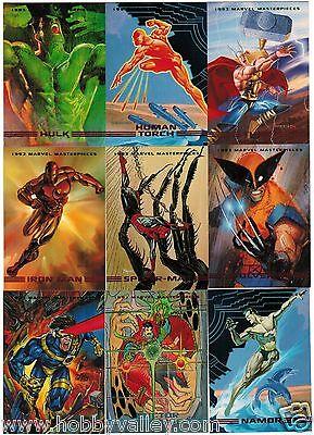 1993 MARVEL MASTERPIECES SERIES II 2 SKYBOX COMPLETE SET #1-90 X-Men
