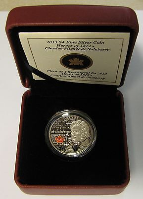 Click now to see the BUY IT NOW Price! 2013 PROOF $4 WAR OF 1812 HEROES LT COL CHARLES DE SALABERRY .9999 SILVER CANADA