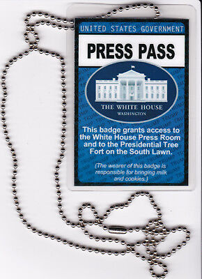 Identification Badge US Government President TRUMP White House PRESS PASS brief
