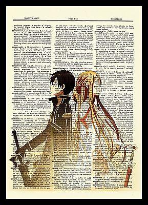 Usado,  Sword Art Online Kirito Asuna Anime Dictionary Art Print Poster Picture SAO segunda mano  Embacar hacia Argentina