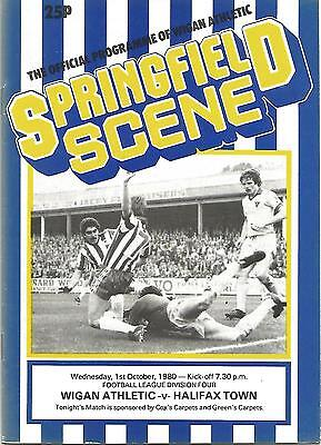 Football Programme - Wigan Athletic v Halifax Town - Div 4 - 1980