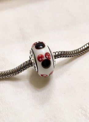 - Pandora silver 925 ALE  murano bead glass Disney Minnie 791634