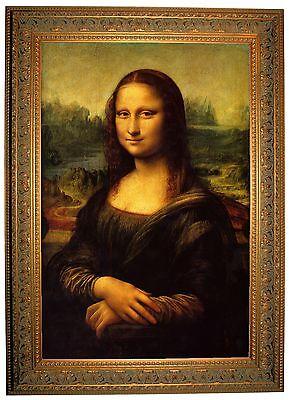da Vinci Mona Lisa - Ornate Gold Framed Giclee Canvas Art Reproduction M 25x34
