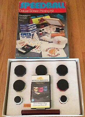 Speedball Deluxe Screen Printing Kit Deluxe Kit Emulsion Dvd Deluxe Screen Printing Kit
