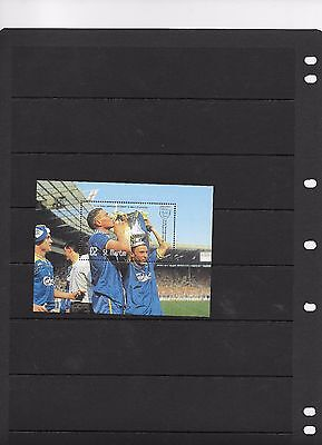 WIMBLEDON FA CUP FINAL 1987-88  MINI SHEET FROM ST MARTIN  WINNERS