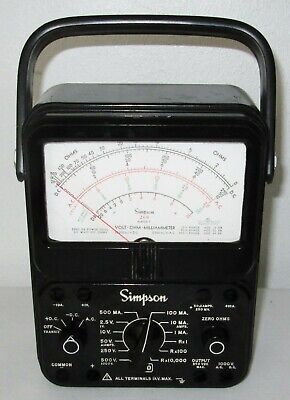 Simpson 260 Series 7 Multimeter W Hard Plastic Front Protective Cover - Nice