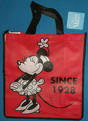 @DISNEY 1928 CLASSIC MINNIE MOUSE RED REUSABLE TOTE/SHOPPING/FAVOR/GIFT - Disney Gift Bag