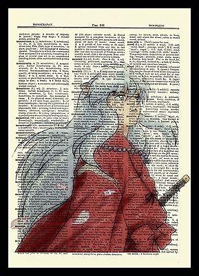 Inuyasha  Anime Dictionary Art Print Poster Picture Manga Book
