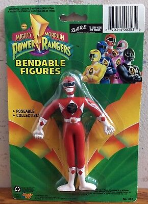 (1993 Mighty Morphin Power Rangers Bendable Figure Red Jason New In Package )