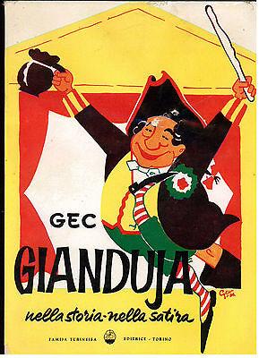 GEC GIANIERI GIANDUIA NELLA STORIA NELLA SATIRA FAMIJA TURINEISA 1962 CARNEVALE