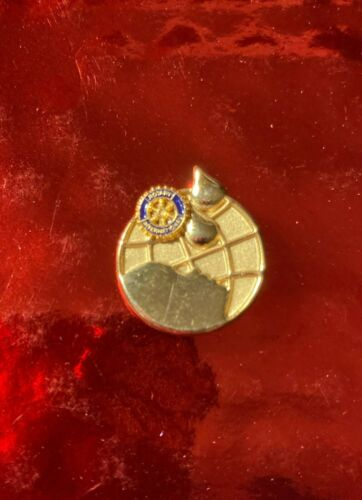 Rotary International Pin     POLIO PLUS  TWO DROPS GOLD COLOR