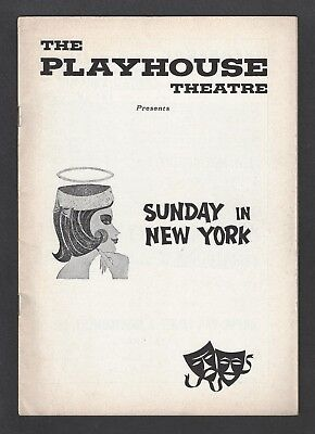 """Robert Redford """"SUNDAY IN NEW YORK"""" Conrad Janis 1961 Wilmington Tryout Playbill"""