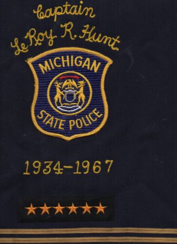 1937-1967 Retirement Sash & Patch Captain Leroy Hunt Michigan State Police