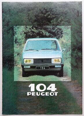 V11807 PEUGEOT 104 Z - CATALOGUE - 1980 - A4 - NL