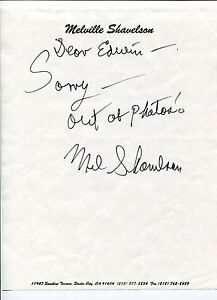 Melville-Shavelson-Houseboat-Yours-Mine-and-Ours-2x-Oscar-Nom-Signed-Autograph