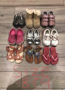 Girls toddler shoes size 8 and 9