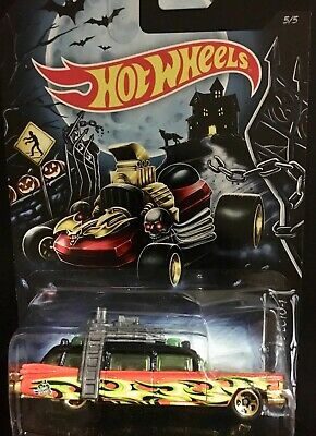 Ghostbusters ECTO-1 Hot Wheels Happy Halloween Kroger Exclusive Damaged blister