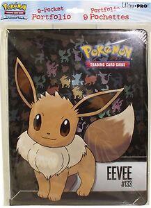 Pokemon Eevee 9 Pocket Page Portfolio Album Binder Holder Card Protector New