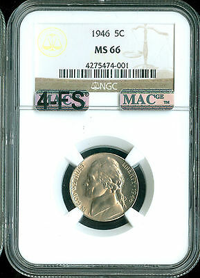Click now to see the BUY IT NOW Price! 1946 JEFFERSON NICKEL NGC MAC MS66 4FS PQ 2ND FINEST GRADE SPOTLESS .