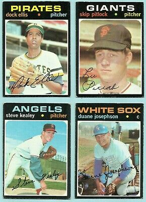 060678c3 1971 Topps 32 Different Commons Giants Angels Red Sox As Mets Braves Expos  Lot 1